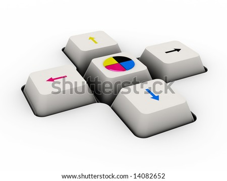 cmyk keyboard button (image can be used for printing or web)
