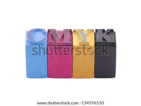 Cmyk made from letterpress blocks