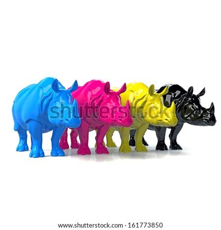 CMYK Rhino concept