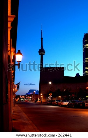 CN tower night view