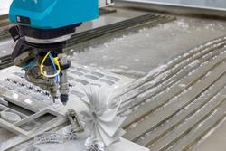 CNC water jet cutting machine , Industrial metalworking CNC water jet cutting machine.