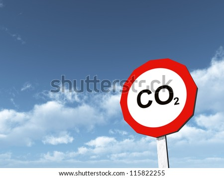 CO2 Computer generated 3D illustration