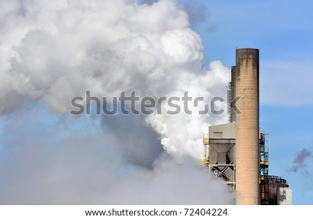 CO2 emissions and industrial smokestacks