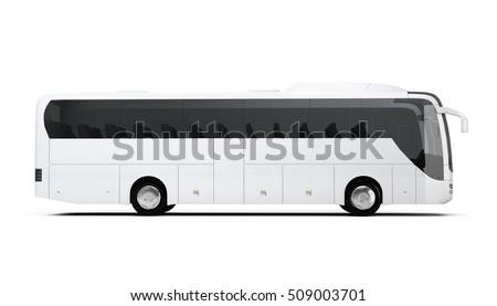 Coach Bus Mock-Up 3D illustration