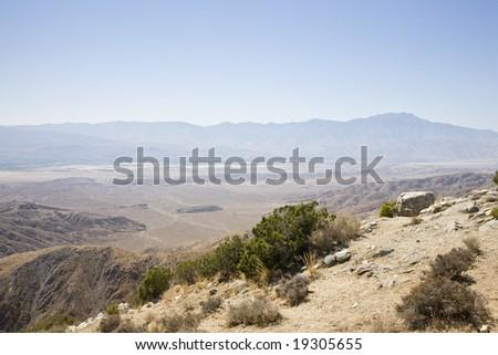 Coachella Valley from Joshua Tree NP USA