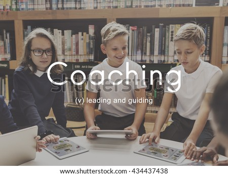 Coaching Educating Instructor Management Concept #434437438