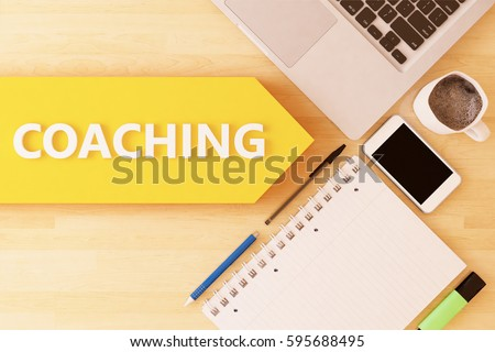 coaching   linear text arrow...