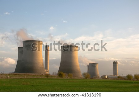 coal and natural-gas fired power station