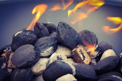 Coal Burning in a fire pit