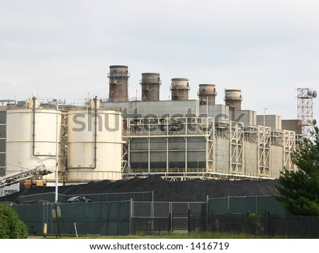 Coal burning power plant in Alexandria VA - stock photo