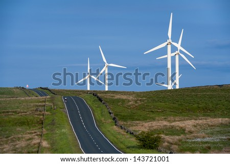 coal clough wind farm burnley, lancashire, england, uk