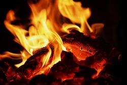 coal fire texture