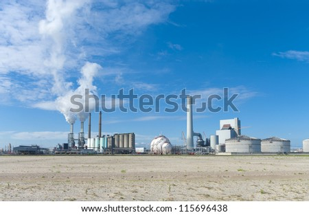 coal-fired power plant on the Maasvlakte, the industrial harbor district of Rotterdam
