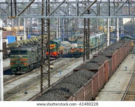 Coal in wagons