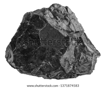 Coal isolated on white background close up Imagine de stoc ©