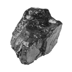 coal isolated on white background closeup