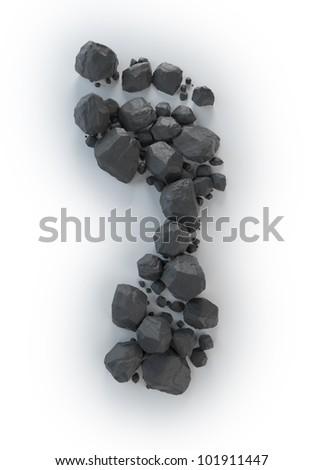 Coal lumps forming a footprint - Carbon footrpint concept