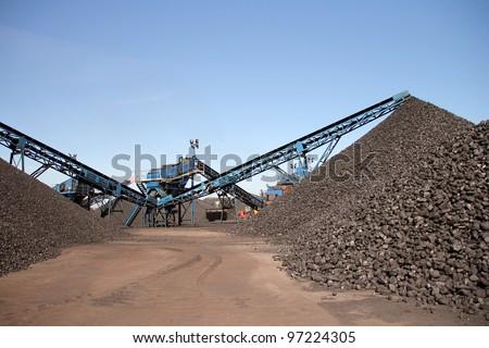 Coal mine background