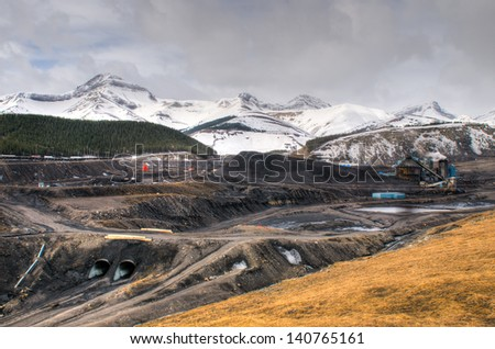 Coal Mine in the mountains, Alberta Canada