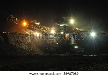 Coal mining in action, this is coal heavy equipment