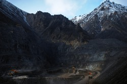 Coal mining in the mountains