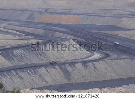 coal mining site at Pingshuo,china