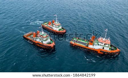 Coal Oil Transportation Tug Barge Tanker sea river Mother Vessel seatruck trucking Imagine de stoc ©