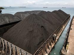 Coal on Barge docking Port