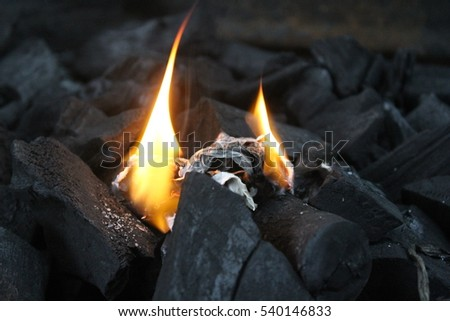 Coal on fire #540146833