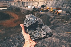 Coal on the palm - Czech Republic