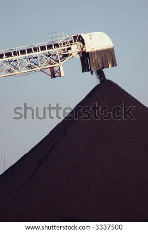 Coal Pile close-up - stock photo