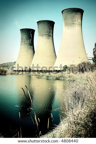 Coal power station cooling towers