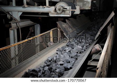 coal transportation for subsequent processing