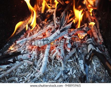 coals in the fire