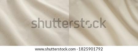 Coarse calico, canvas beige cloth texture background, calico textile, wavy fabric,  Foto d'archivio ©