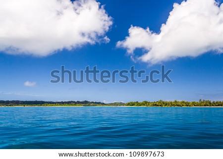 Coast and cloud to Sainte Marie island, eastern Madagascar