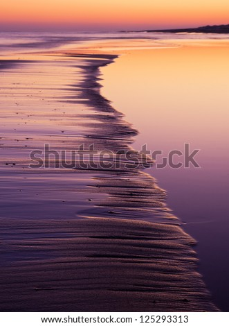 Coast closeup at sunset. landscape