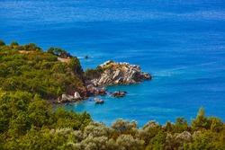 Coast in Sveti Stefan - Montenegro - nature background