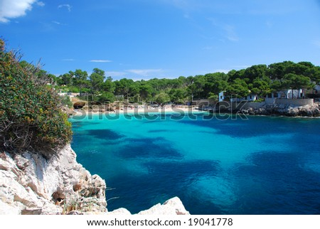 coast line of island mallorca spain