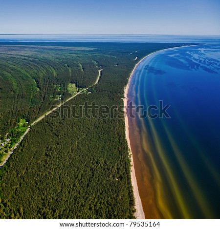 Coast line of Riga Gulf near Kolka cape