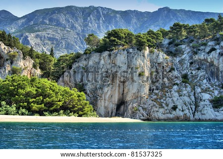Coast near by Makarska in Croatia
