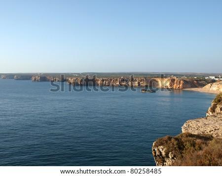coast near Sagres Point in Portugal