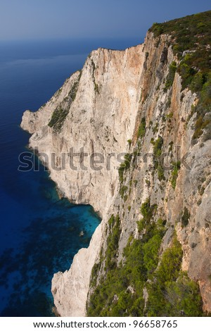 Coast of Greece, Zakynthos Island, part of  Ionian Islands