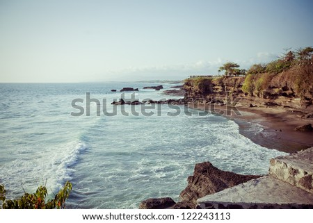 Coast of Indian ocean Bali, Indonesia