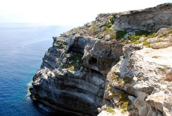 Coast of Lampedusa, Italy. Summer 2009.