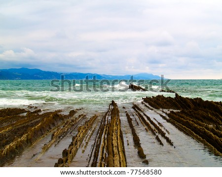 coast of northern Spain - stock photo