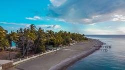 Coast of palmar de ocoa quiet beach