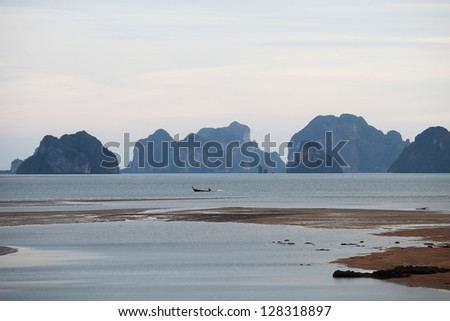 coast of the Andaman Sea in Thailand to see the beautiful island.