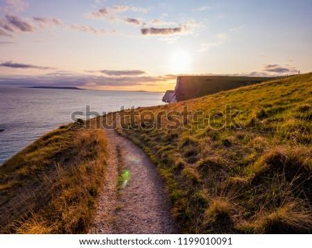 Coast path at Durdle Door in England #1199010091