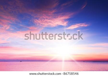 Coast View Sun Rising